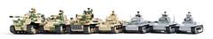 COBI German Tank Size Comparison (Adam Purves (S3ISOR)) Tags: cobi tank brick block smallarmy worldwar2 worldwarii worldoftanks worldwar wwii ww2 german tiger tigertank tiger1 tigerii panzerkampfwagen panzer panzeriv panzer3 panzer4 moc 2459 panther 2474 2480