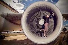 The engine (cesarmarch) Tags: test fashion airplane airport nikon aircraft flash flight moda engine shooting marta motor photoshot aeropuerto avion turbina manises f3500 triopo martasamfe