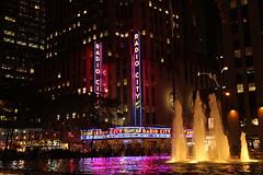 Radio City Music Hall all lit up at night (Hazboy) Tags: new york city nyc music usa ny apple rock america radio square hall us big manhattan may center midtown times rockefeller rcmh 2016 hazboy hazboy1