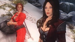TESV - Triss and Shayla (tend2it) Tags: kenb elder scrolls skyrim v rpg game pc ps3 xbox screenshot sweetfx enb krista demonica race sg lilith 161 lady hair pack triss merigold shayla