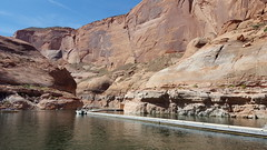 The floating dock system to service the Rainbow Bridge NM