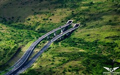 Route des tamarins (DroneCopters) Tags: road tunnel voiture route infrastructure saintpaul drone natgeo iledelarunion tamarins