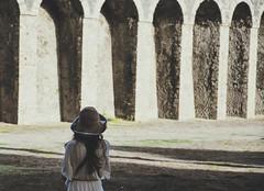 (Brunella Pastore) Tags: sunset girl tramonto pompei anfiteatro turista scavidipompei
