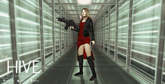 Hive: Security Operative (Andy2 Spore) Tags: residentevil thehive laser hallway alice biohazard secondlife roleplay sim adventure research facility zombie bow umbrella corporation trb securityoperativeoutfit