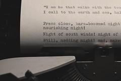 - Walt Whitman (Carla) Tags: typewriter canon book photo italian poetry passion write walt whitman olivetti leavesofgrass songofmyself 60d lettera10