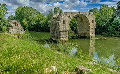Ambrussum on the Via Dominitia (roman road) (capvera) Tags: bridge river roman pont archeologie vidourle ambroix ambrussum