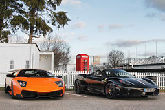 Weight Watchers. (Alex Penfold) Tags: auto camera orange black cars alex sports car sport mobile canon photography eos spider photo cool flickr image awesome flash picture super ferrari spot exotic photograph lp spotted hyper lamborghini scuderia supercar goodwood sv spotting exotica sportscar 2012 sportscars f430 supercars trax 430 murcielago 670 penfold spotter 16m hypercar 60d hypercars lp670 alexpenfold f15dsl