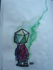 icosahedron phage (9K5A) Tags: new colors composition ink geometry sketchbook hip biology retrovirus capsid icosahedra aquareel triangulars