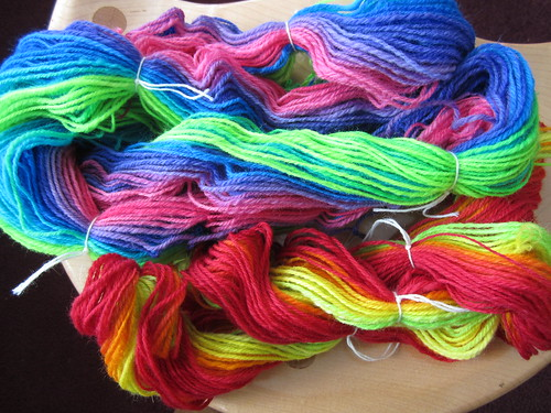 rainbow yarn plied