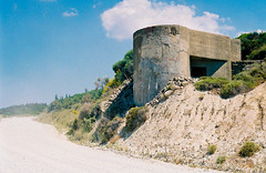 Bunker in Gallipoli ((--ANDY--)) Tags: world road travel film 30 35mm canon turkey eos 50mm one 1 travels war europe track fuji hill wwi 200iso east hills dirt bunker mm middle 50 35 gallipoli anzac canakkale anakkale sueria