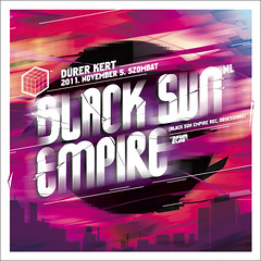Black sun empire (Blikdani) Tags: party music print poster typography design graphicdesign flyer budapest creative event lettering electronic bilk supprneopaint illustrationhungary danielbilk