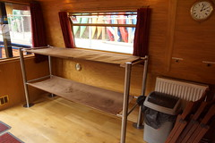 Two of the 10 bunks for passengers