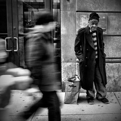 Nowhere Man (Joel Levin Photography) Tags: street urban blackandwhite bw usa philadelphia square eyecontact candid streetphotography squareformat philly allrightsreserved iphone mobilephotography thedefiningtouch iphoneography deftouch editedanduploadedoniphone joellevin definingtouchgroup