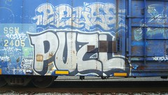 PUZL (toxic waste dump) Tags: train boxcar graffit freight