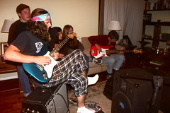 (Tommy Petroni) Tags: friends music house colors night del san bass guitar amp tyler pedro experience keegan steven bandana jam tones haley pajamas