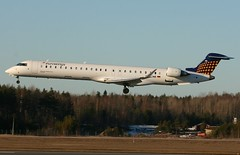 Eurowings CRJ900 landing at ESSA (mрія) Tags: plane germany airplane airport sweden stockholm lh essa lufthansa regional spotting 900 dlh crj bombardier arn crj900 eurowings lufthansaregional