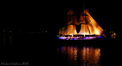 Noche Valdiviana 2012 (k-ro_reyes) Tags: chile rio noche agua barco hermann 2012 aleman valdivia kunstmann cerveceria embarcaciones bergantin