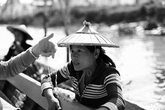 dealer on a boat at Inle-lake, Burma (NastyNinja) Tags: china street trip woman lake water hat shop river photography 50mm boat necklace sweater asia eli mark ninja burma iii watch vietnam ii round 5d myanmar inlelake inle mm 12 50 selling birma nasty pullover markii markiii inlesee