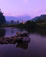 As the Sun Sets (pangalactic gargleblaster and the heart of gold) Tags: longexposure landscape stream kerala munnar dhobighat