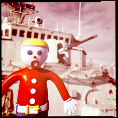 Mr. Bill Joins THe Navy (Evan MacPhail Photography) Tags: red color night square photo bill mr photos bokeh live navy gang royal saturday canadian destroyer mister press app 4s apps 280 iphone snl iroquois hmcs cololur hipstamatic infinicam histagram gangcanada iphjone