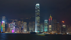 _ (Toukkamies) Tags: world show city light 2 hk building tower night lights nikon cityscape shot hong kong after lightning scape  tamron ifc symphony hsbc biggest hks aia kongkong xianggang symfony d80