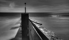 Infrared Groyne (xyphious) Tags: ocean longexposure sea beach ir spring tide sunny dorset infrared weddinganiversary groyne bournemouth hoya