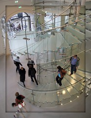 One more time the famous glass stair at the Apple store (Bhakti - Amsterdam) Tags: holland apple amsterdam modern nederland applestore