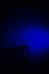 (Vitor S Photo) Tags: blue light shadow luz azul bench studio flash banco sombra estudio virgu vitors
