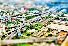 Twisted Tollways. (Silent Resilience) Tags: city sky thailand hotel nikon highway bangkok freeway tollway roads suite twisted farah baiyoke tiltshift silentresilience