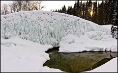 Panorama Lainbach (BM-Licht) Tags: germany bayern deutschland bavaria nikon wasser frost bach kalt eis eiszapfen benediktbeuern lainbach eiswand d7000