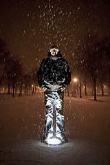 Lightman (Jimmy Bobo) Tags: light snow night spot neige nuit