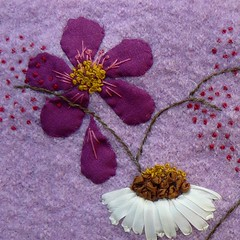 Challenge rose (chabronico) Tags: wool rose embroidery coton cotton applique laine appliqué broderie fsfeature