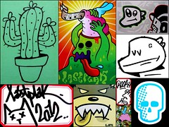Sticker Collage (oerendhard1) Tags: life cactus urban streetart art collage boat sticker ominous das rock4 oles caveman lastplak onheil