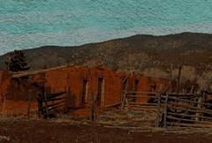 Adobe Ruins ~ El Rito, New Mexico (≈ ☼ ≈ giamarie≈ ☼ ≈) Tags: painterly mountains newmexico adobe tweaked picnik elrito route554 adoberuins