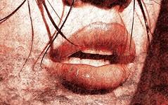 Tu boca... esa gruta humeante y herida donde me hundo a vivir!!... (conejo721*) Tags: argentina lluvia amor texturas palabras mardelplata poesa poema sentimientos bocademujer conejo721