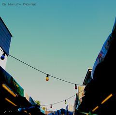 Vintage (DeniseDiMaiuta) Tags: blue england sky vintage brighton market blu cielo mercato inghilterra lampadine