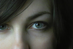 Laur. (melcwire) Tags: closeup eyes blueeyes sigma eyebrow brunette