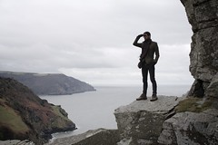 (Lizzie Staley) Tags: sea cliff man view walk devon edge valleyofrocks leeabbey