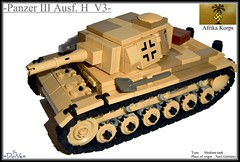 Lego ww2 -Panzer III Ausf. H  V3- (=DoNe=) Tags: world 2 by viktor war lego iii h afrika custom done panzer korps deutche ausf panzerkampfwagen legopanzeriii legoww2panzeriiiausf