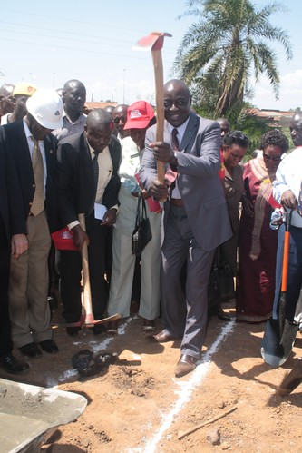 Hon Sempijja-Ground breaking