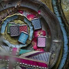 KEEP CALM... - BACKSIDES (Alicja Radej Arte Ego) Tags: glass handmade oneofakind jewelry jewelery retrocharm