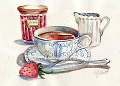 Downton Abbey Strawberry Tea (Paris Breakfast) Tags: