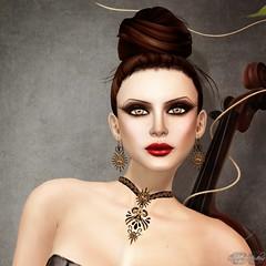 The New Miss Puerto Rico~Hezabel Blackheart (Jewelry by Zuri) Tags: jewelry sets misspuertorico jewelrybyzurirayna gemjchange