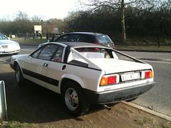 1977 LANCIA BETA MONTE CARLO (Yugo Lada) Tags: old white car nice very beta parked carlo monte 1977 rare lancia tke141r