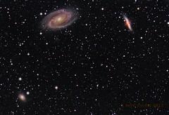 Bode's nebula and friends (Mickut) Tags: m82 m81 ngc3077 cigargalaxy bodesnebula messier81 messier82 Astrometrydotnet:status=solved flt110 Astrometrydotnet:version=14400 komakallio sxvrh18 Astrometrydotnet:id=alpha20120227664780