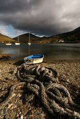 Money For Old Rope (RoystonVasey) Tags: canon eos scotland boat angle wide sigma rope 1020mm isle arran lochranza 400d