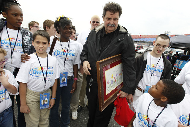 Talladega Superspeedway - NASCAR Dreams kids with Mike Helton