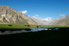 Rangdun veiws from the Zanskar river Adventure rafting and Kayaking trip