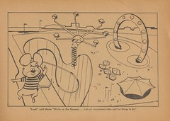 We're On The Gayway! (The Cardboard America Archives) Tags: seattle moon vintage book mice coloring spaceneedle 1962 worldsfair