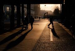 Schattenwerfer (grapfapan) Tags: bridge shadow people berlin germany cobblestone alexanderplatz schatten